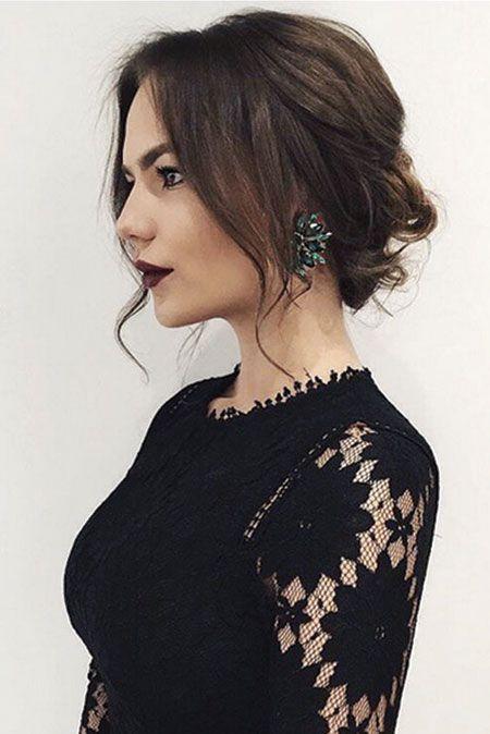 25 Abschlussballfrisuren für kurzes Haar – einfache Frisur  #damenfrisuren #fre…