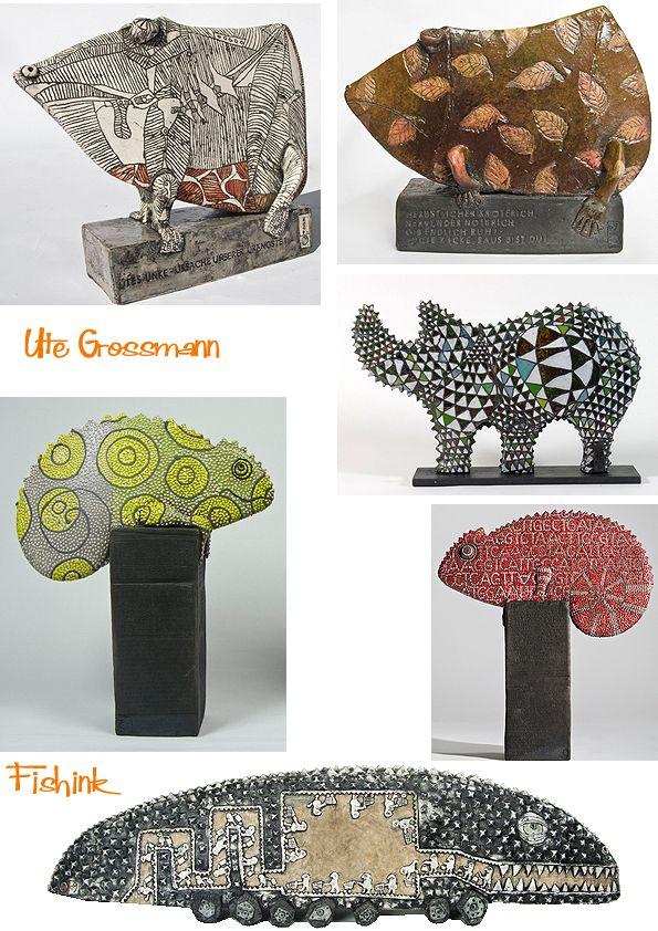 Ute Grossman Stylish Decorated Ceramics Ceramic Art Pottery Sculpture Ceramics