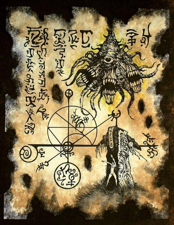 Horror de ocultismo y magia en necronomicon conjuro de YOG SOTHOTH cthulhu larp | Arte cthulhu, Cthulhu, Ocultismo