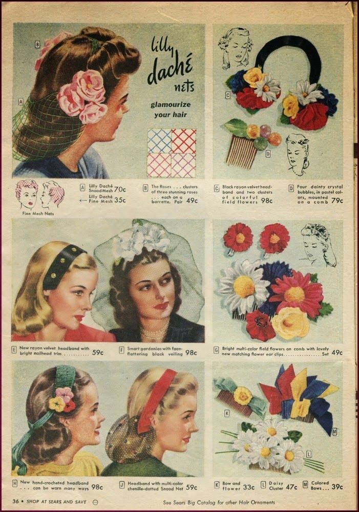 1940s Teenage Fashion: Girls | 1940s, Hair accessories and Ads
