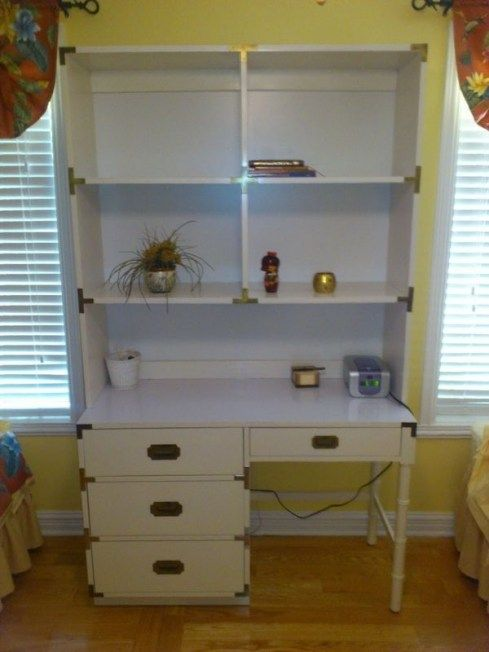 Vintage Campaign Style 70s White Childrens Bedroom Furniture On Kijiji Montreal