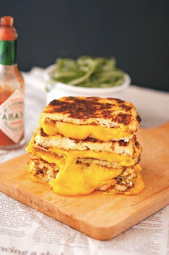 Cauliflower Crust Grilled Cheese Food Recipes Food Healthy