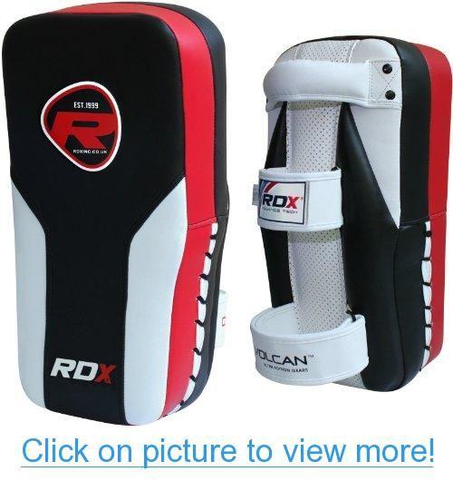 Pro Thai Kick Boxing Strike Curved Pad Muay UFC Gym MMA Focus Punch Shield PAIR