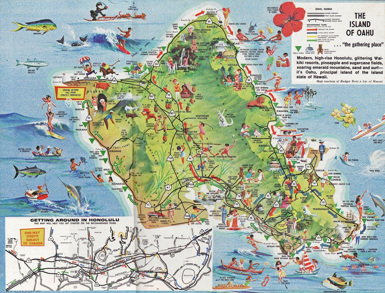 Oahu Tourist Map