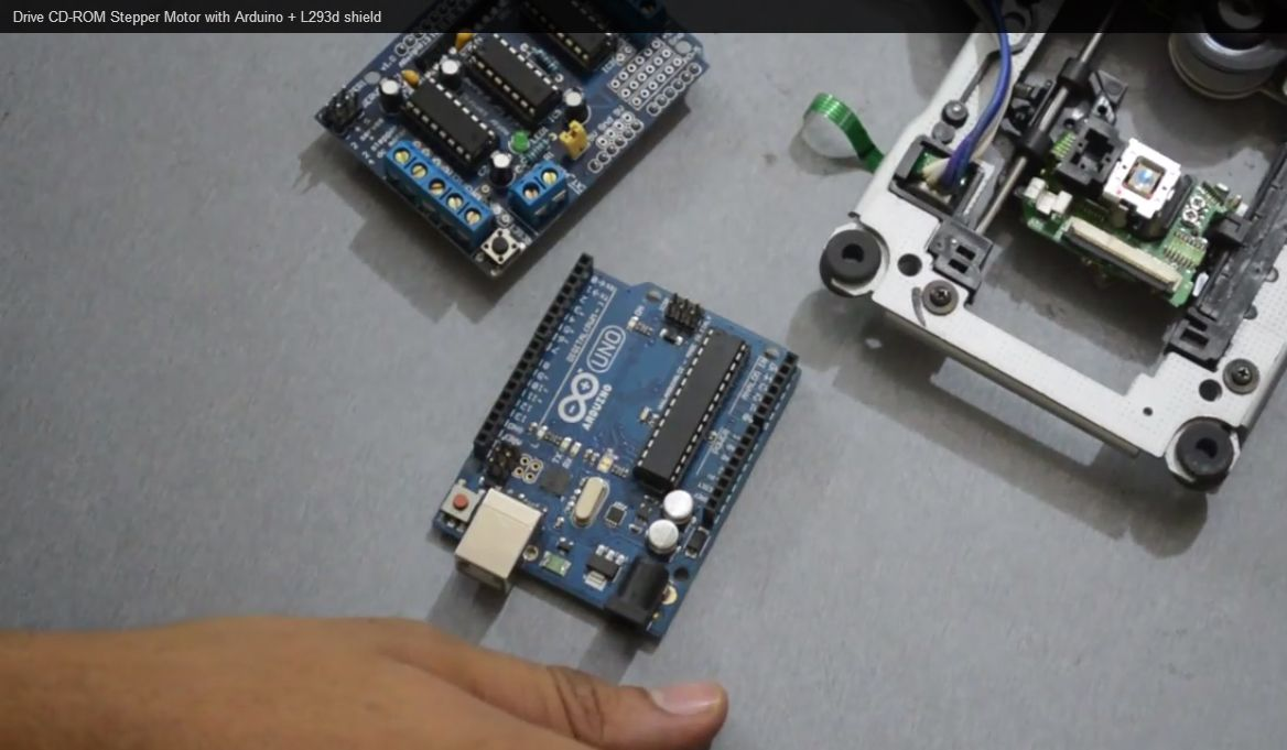 cd rom stepper motor and arduino electronics technology in 2019cd rom stepper motor and arduino