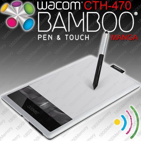 Wacom Bamboo Manga Pen Touch Tablet Cth 470 3g 3rd Gen Optional