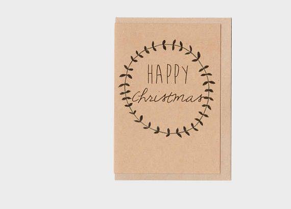 Happy christmas rustic greeting card art card naive wreath happy christmas rustic greeting card art card naive wreath kraft natural m4hsunfo