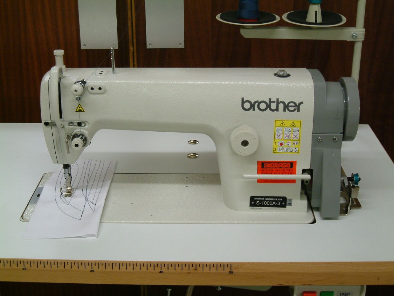 Basic Brother Lockstitch Sewing Machine Complete On Unit Stand