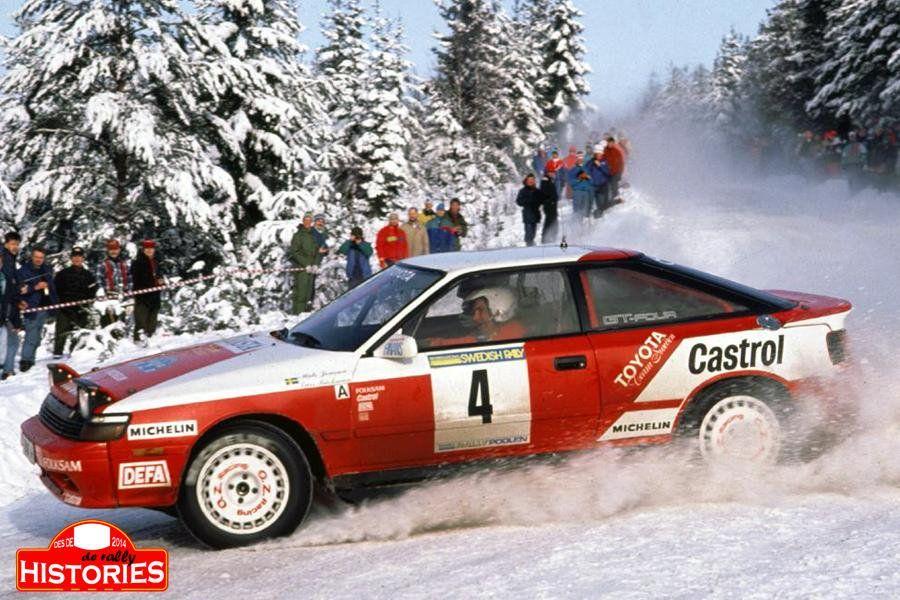 Mats Jonsson Lars Backman 1992 Swedish Rally Group A8 Toyota Celica Gt 4 Toyota Celica Rally Car Rally