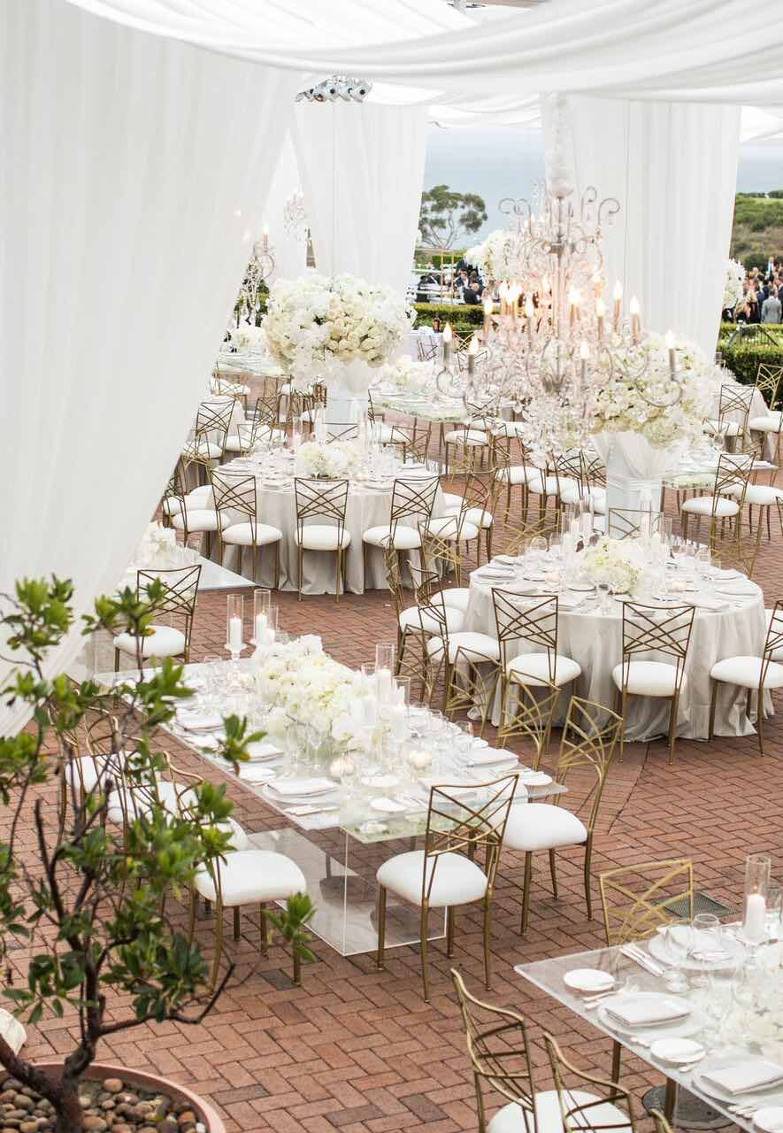 Elegant Outdoor California Wedding with White Glamour from ...