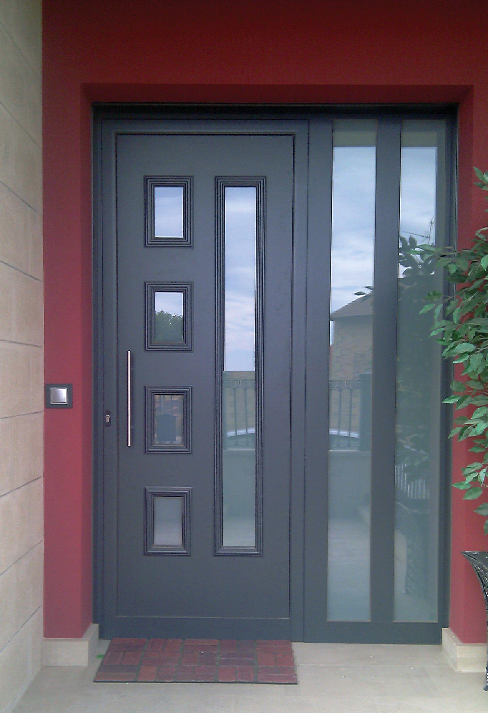 Tempo lira aluminio lacado indupanel paneles puertas for Colores ventanas aluminio lacado