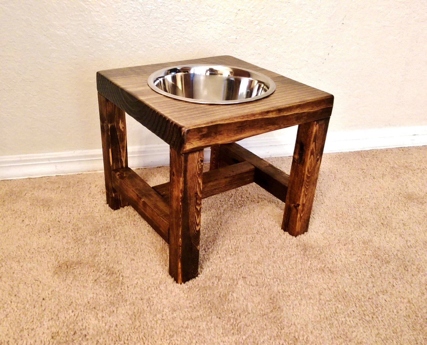 Dog bowl stand large dog bowl stand farmhouse style