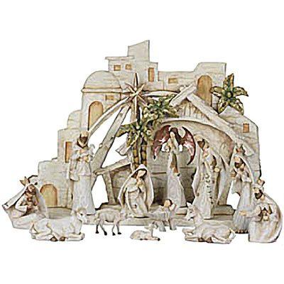nativity sets | Meijer The Christmas Shop Indoor Decor Nativity ...