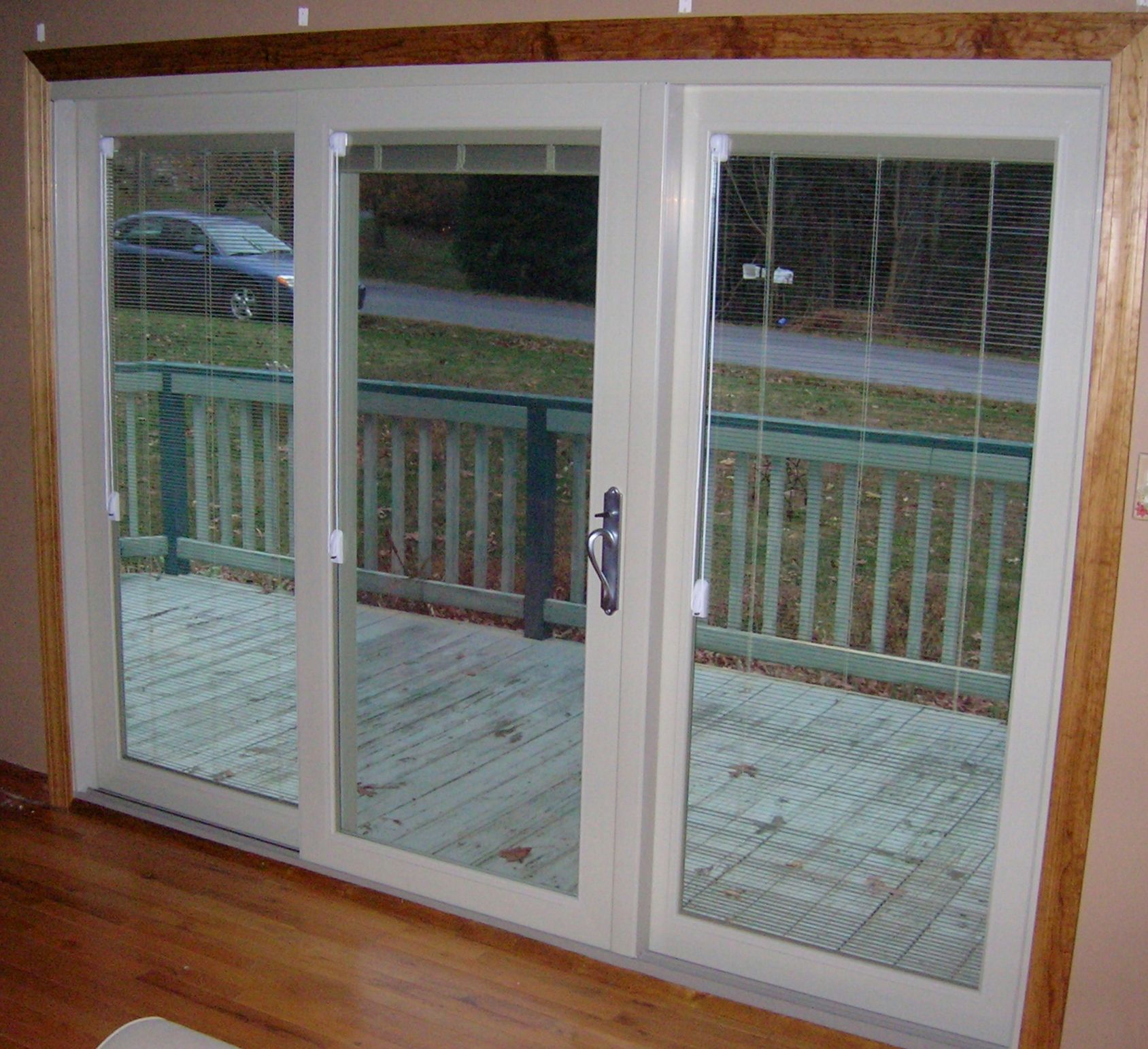 Interior View Sliding Patio Door With Internal Mini Blinds Sliding French Doors Glass Doors Patio Anderson Patio Doors