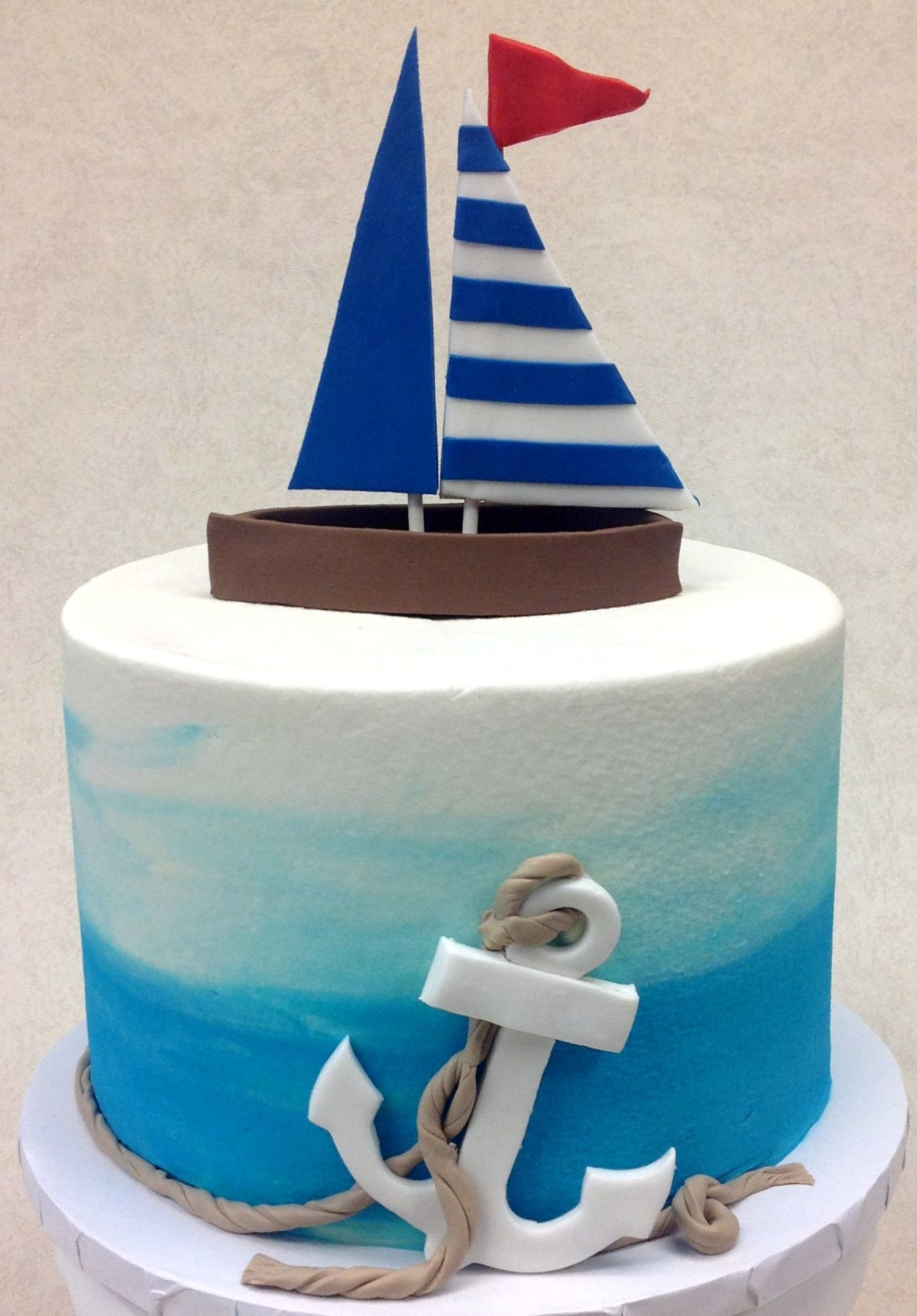 Swell Sailboat Nautical Birthday Cakes Sailboat Cake Sailor Cake Funny Birthday Cards Online Sheoxdamsfinfo