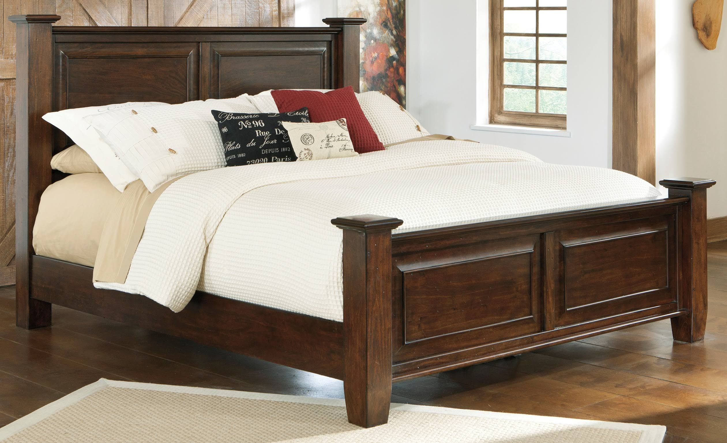 Ashley Hindell Park King Poster Bed Furniture Home Decor Home