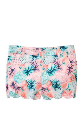 Crown & Ivy™ Girls 7-16 Printed Scallop Shorts. Finished with a scalloped hem, these shorts from Crown & Ivy™ lend girly charm to her casual collection.
