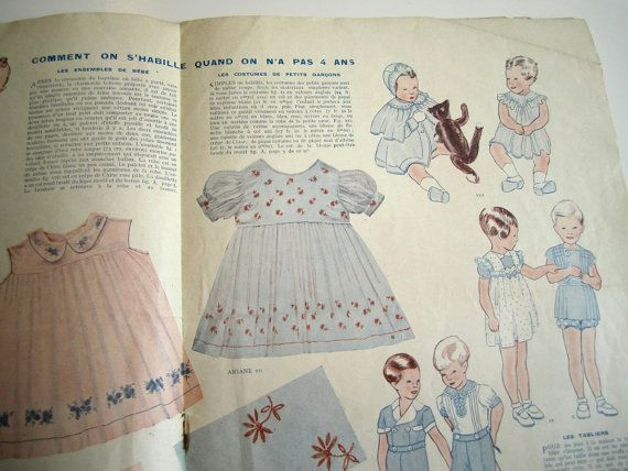 Vintage French Magazine Mode Pratique November 1935 by Mrsdepew