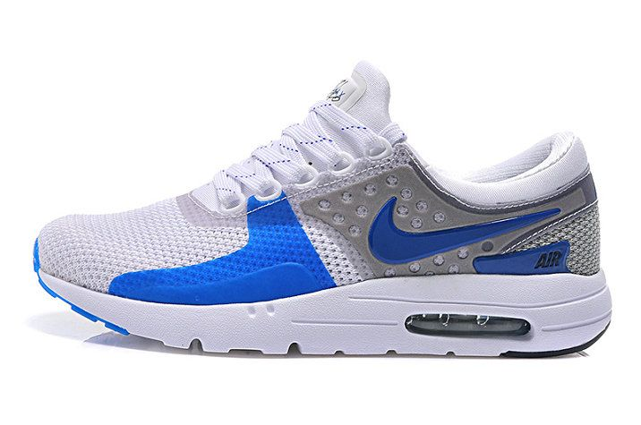 online store dbfd0 5e58a Size 8 Men Nike Air Max Zero Wolf Grey White Blue Lagoon