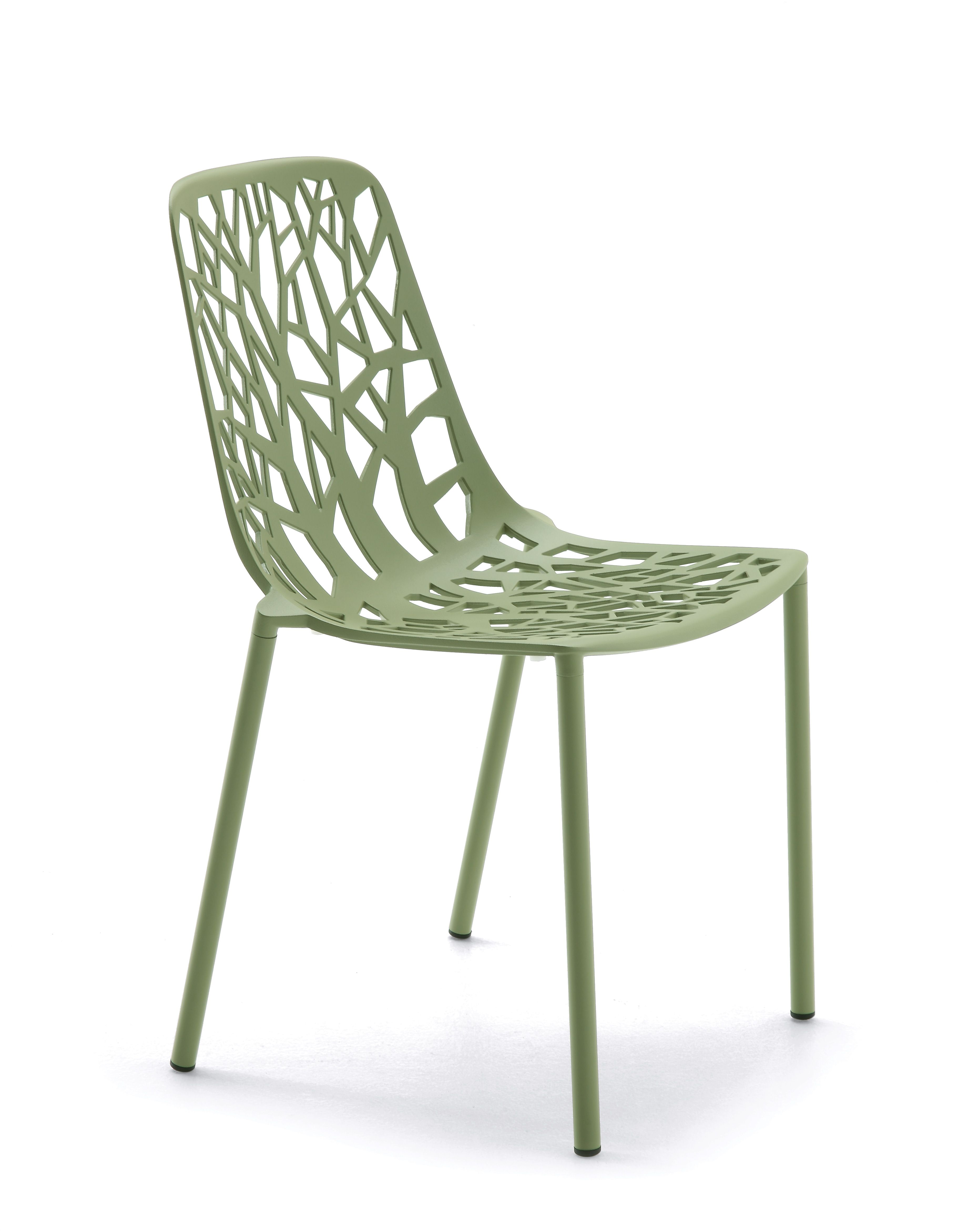 FOREST Collection. Chair Sage Green / Sedia Verde Salvia. FAST  IN_OUT_ALUMINIUM