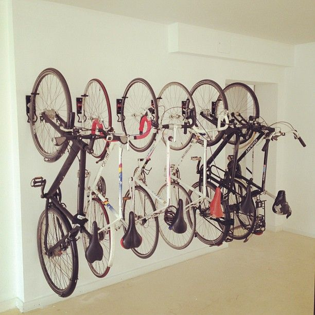 New wallmounted bike racks installed at the Makers Loft mean our