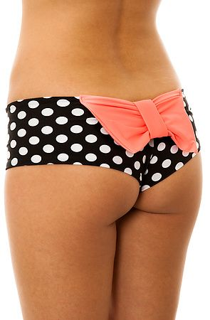 ad1bde2a6f Super Cute Cheeky Polka Dot Bikini Bottom With Pink Bow. #Lolli #Karmaloop  $69.00