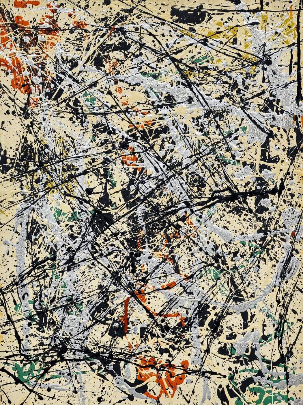 Jackson Pollock Convergence Canvas Print Paintings Poster Reproduction Copy