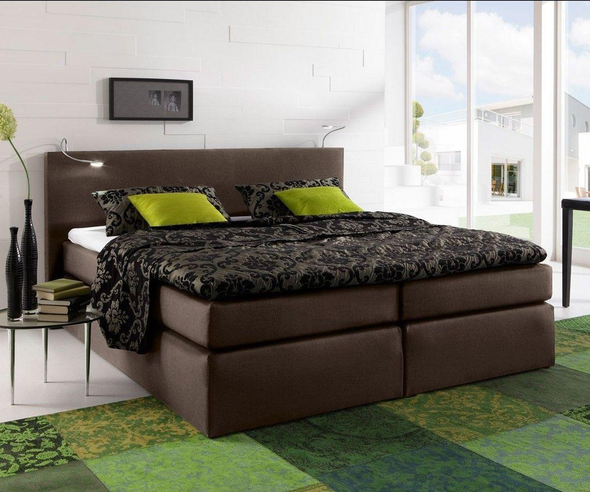 boxspringbett alan 180x200 braun matratze und topper. Black Bedroom Furniture Sets. Home Design Ideas