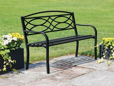 Hometrends Garden Bench Black 1 Outdoor Living Bench Outdoor Decor