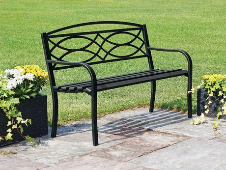 Hometrends Garden Bench Black 1 Outdoor Living Bench Outdoor Decor