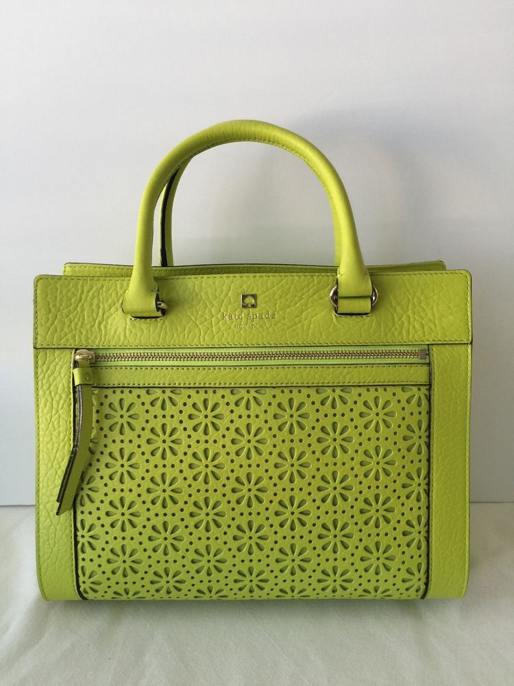 Nwt Authentic Kate Spade Perri Lane Romy Tbccoleaf Lime Green Handbag In Clothing Shoes Accessories Women S Handbags Bags Purses Ebay