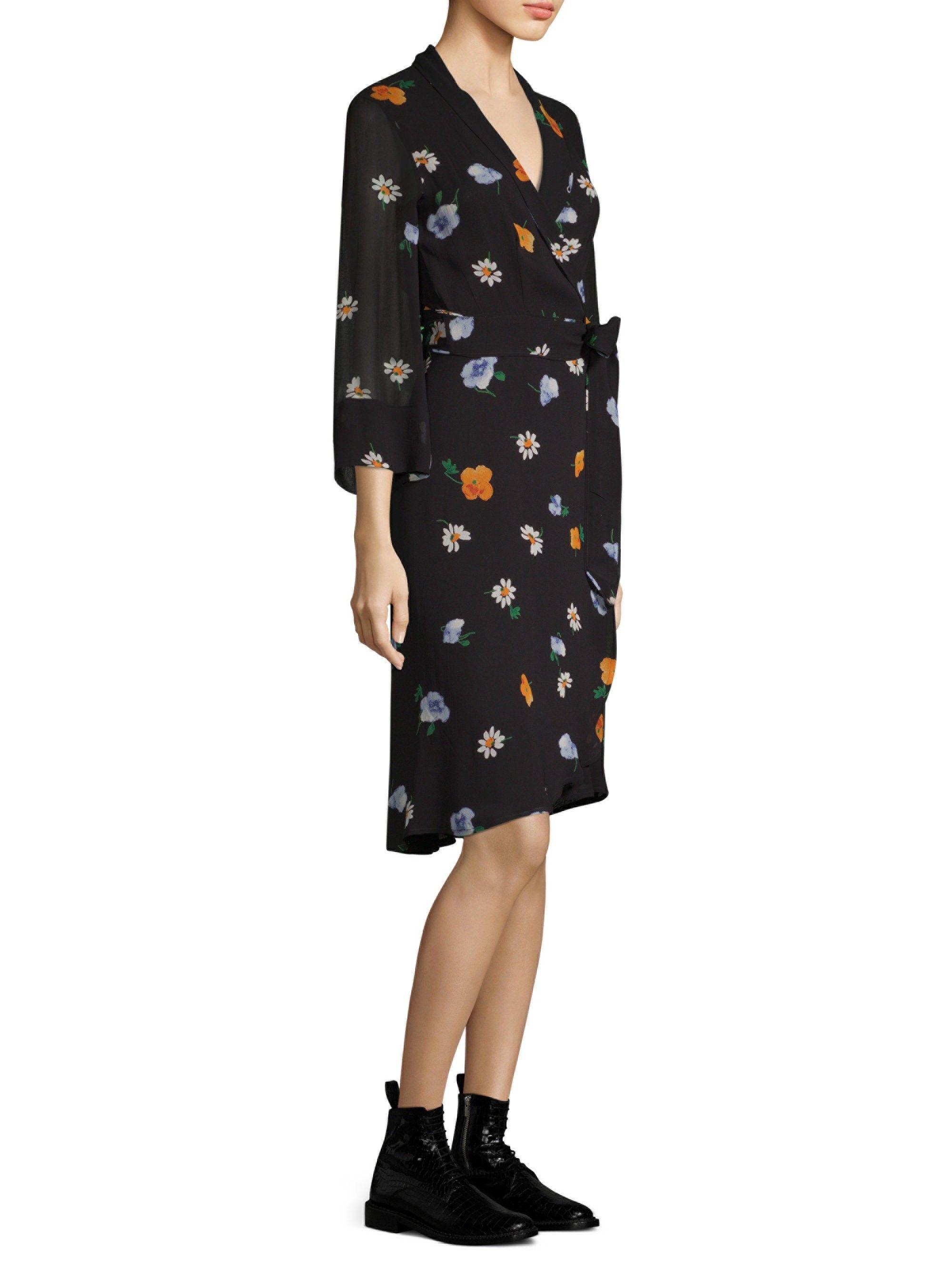 7ae60241080f Ganni Dainty Georgette Wrap Dress - Black 36 (4)