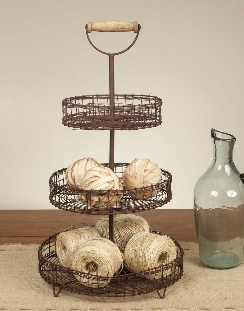 Three Tier Stand with Handle