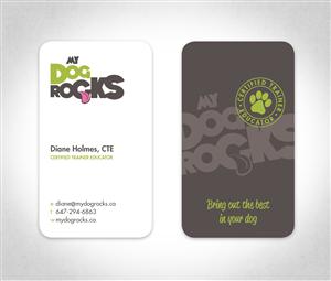 Dog business card best business cards logo ideas dog training business my rocks card colourmoves