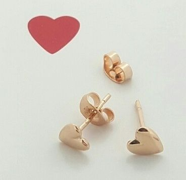 778b82a60 Simple, classic... and loved forever! A pair of solid 9ct Yellow, Rose or White  gold heart earrings to wear from childhood to adulthood.