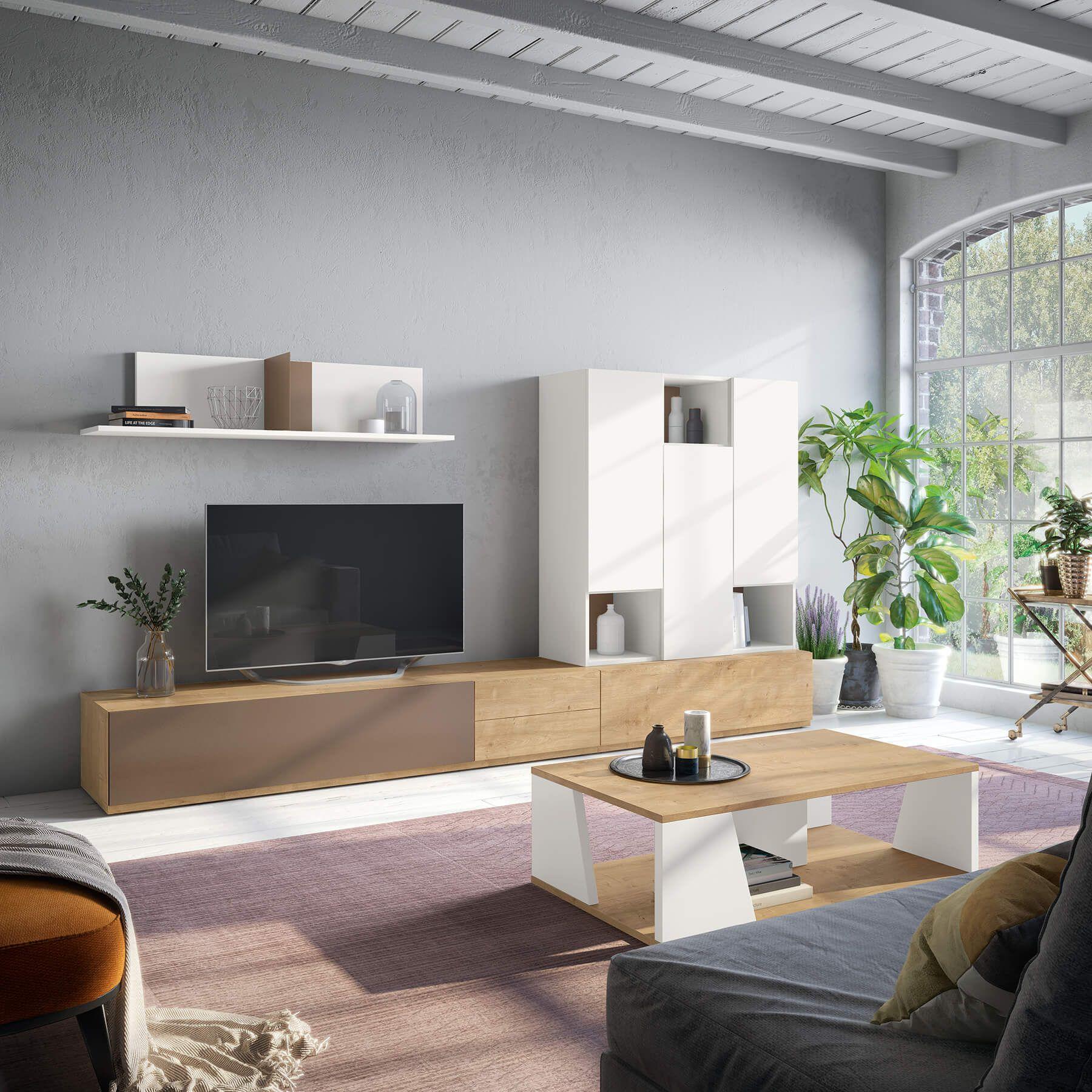 Sencillos Muebles De Salon Modernos Para Estancias No Muy Amplias
