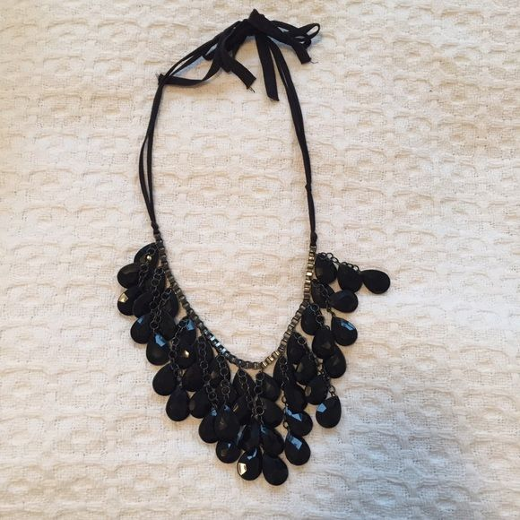 Black chandelier necklace with ribbon tie perfect necklace to dress black chandelier necklace with ribbon tie perfect necklace to dress up a casual outfit or wear aloadofball Choice Image