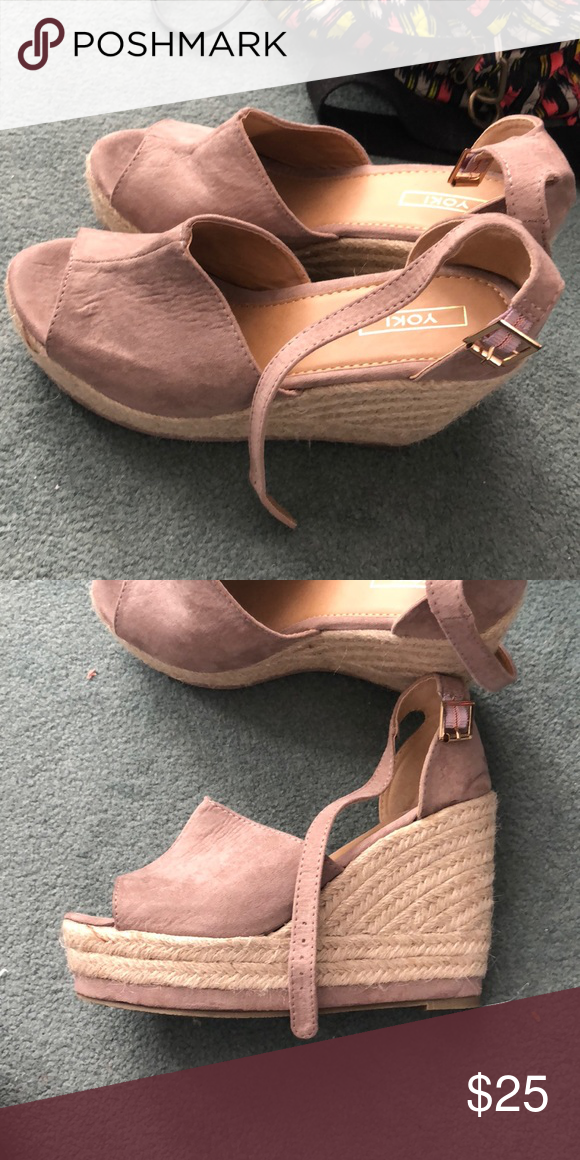 c5e6bb34071 espadrilles wedges worn once perfect condition. Yoki Shoes Wedges ...