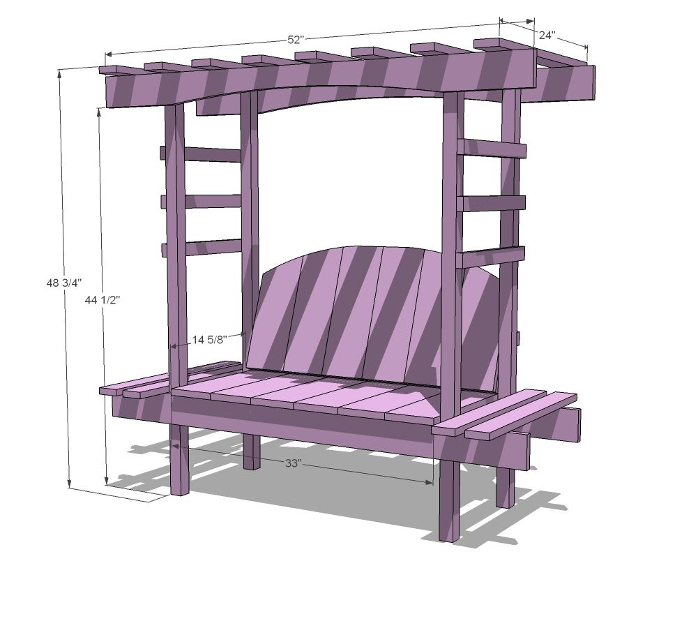 Ana white build a childus bench with arbor free and easy diy