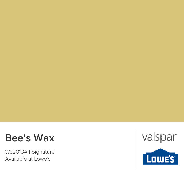Valspar Paint Color Chip Bee S Wax With Bangkok Rust Softer Effect