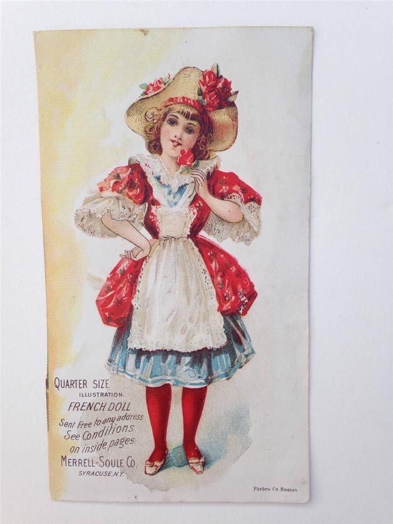 Victorian Trade Card Advertising Paper Doll