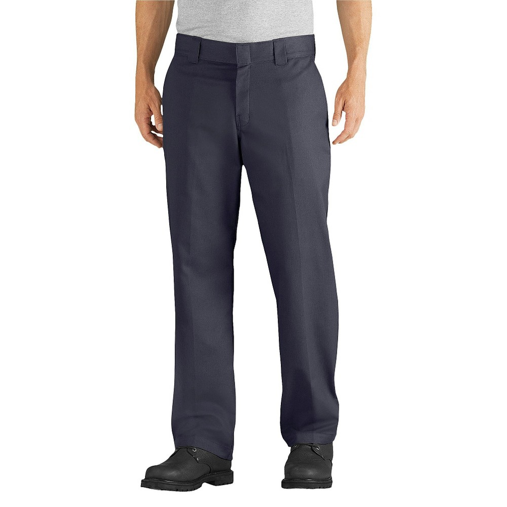 Dickies mens relaxed straight fit flex twill pant dark