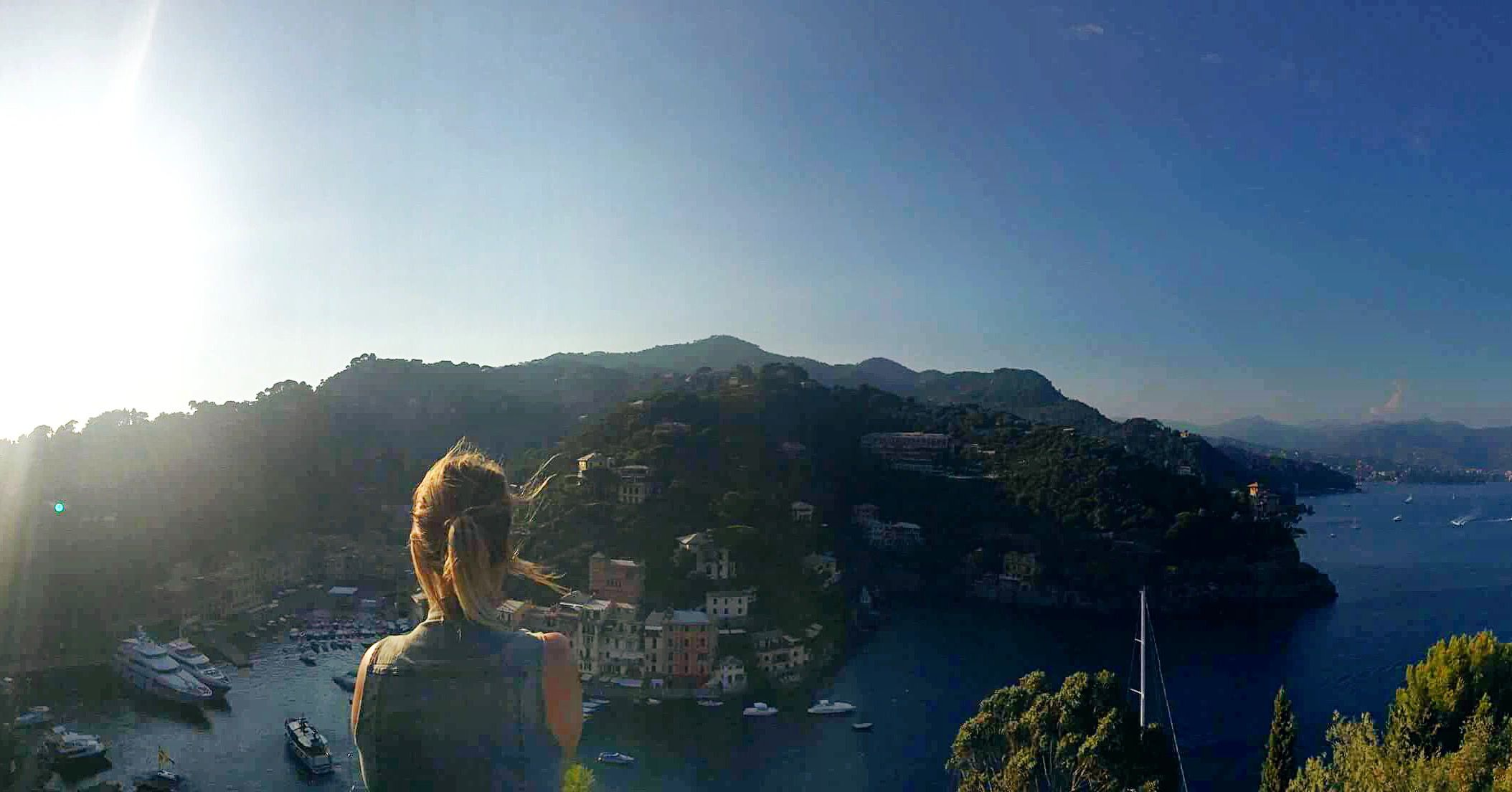 How do I stay #irontekfit? I hike! This was at the top of Portofino, Italy. Thanks @influenster and @IronTekFit #contest