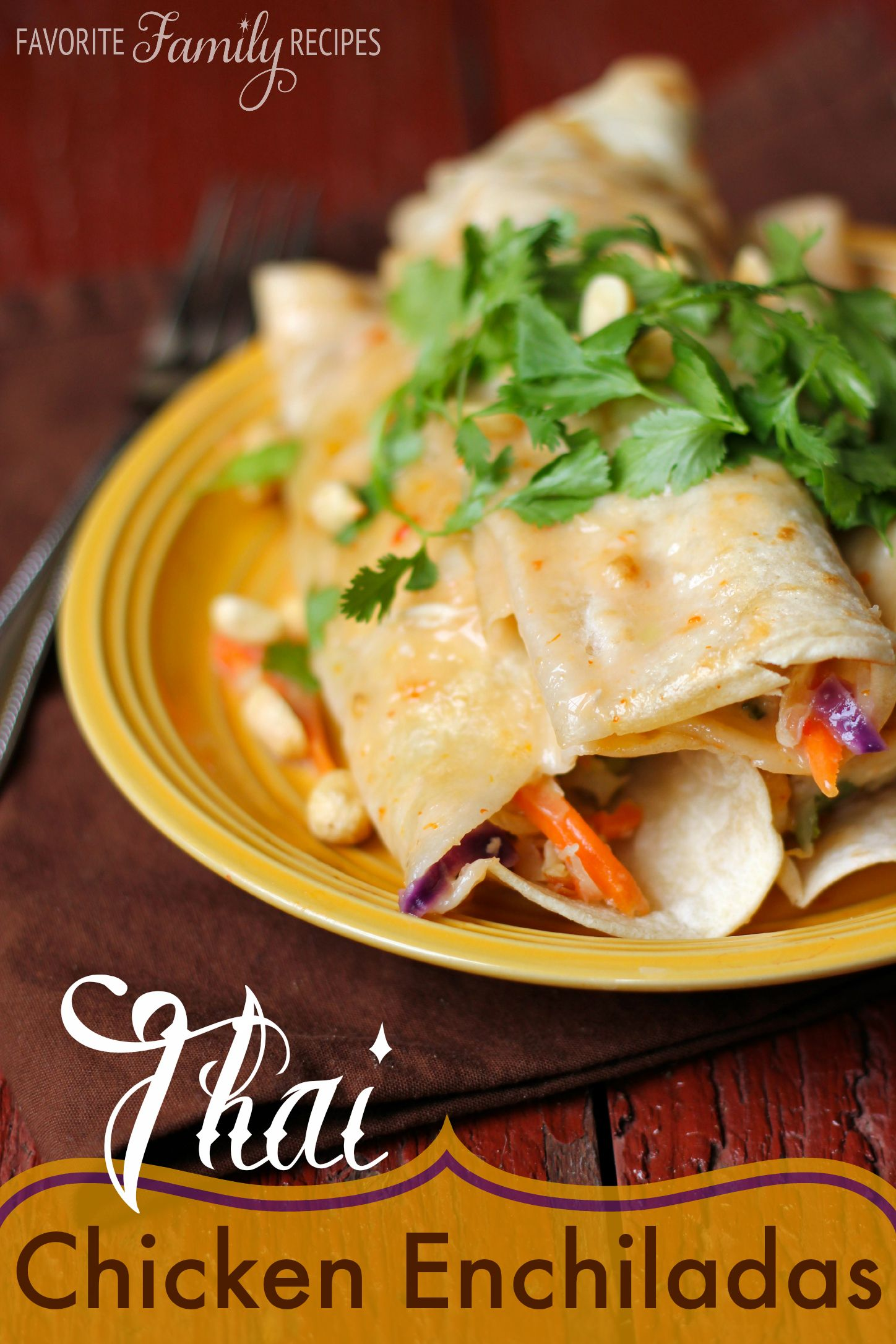 These thai chicken enchiladas are everything i love about thai food these thai chicken enchiladas are everything i love about thai food fresh sweet forumfinder Image collections