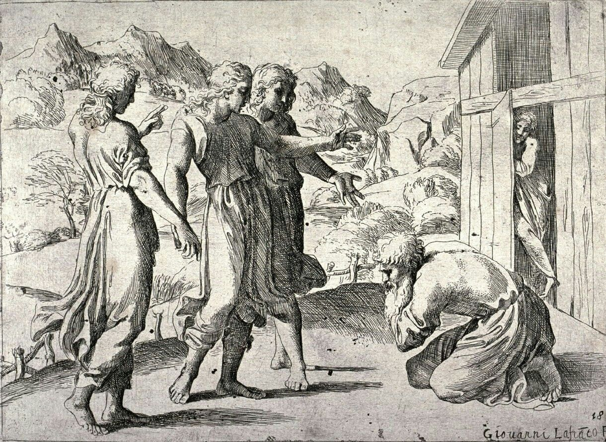 Image result for abraham with angels harold copping images