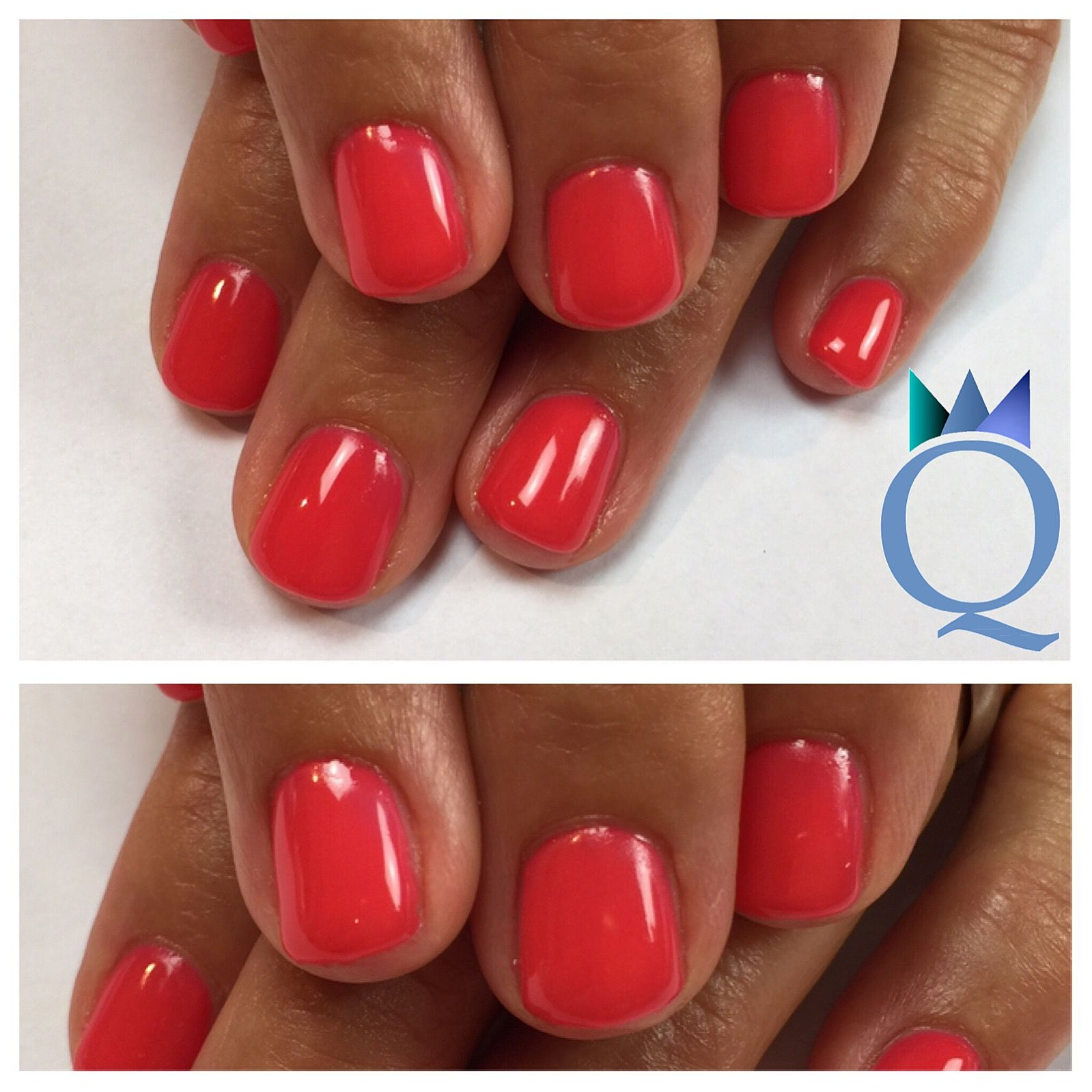 shortnails #gelnails #nails #coral #kurzenägel #gelnägel #nägel ...