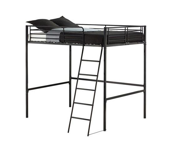lits superpos s et mezzanines lit mezzanine 140x190 city 2 noire chez but 149 99. Black Bedroom Furniture Sets. Home Design Ideas