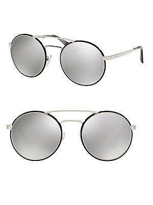 1112e6cc6c Prada 54MM Oversized Round Mirrored Sunglasses