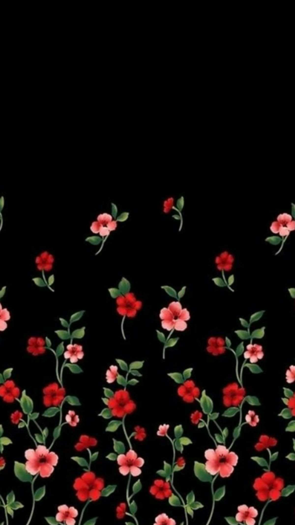 Amoled Floral Wallpaper Background Lock Screen Floral