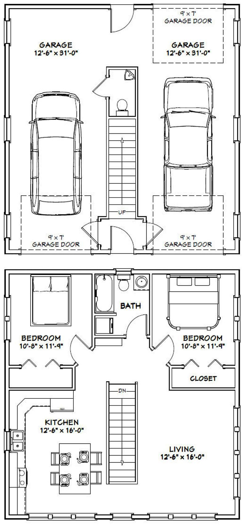 30x32 House 2Bedroom 1.5 Bath 961 sq ft PDF
